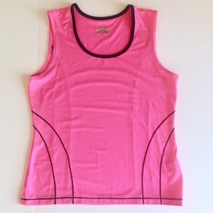 FILA Hot Pink Tank Top Fitness Yoga  Workouts M